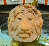 Terra Cotta Lion Sculpture