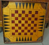 American Folk Art Game Board c. 1900