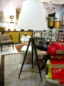 20th c. Surveyor Tripod Floor Lamp