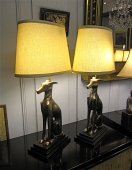 Brass Whippet Lamps