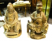 Chinese Carved Elders, 19th c.
