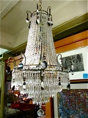 Art Deco Empire Crystal Chandelier