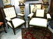 Japanned Egyptian Revival Gentleman's Chair