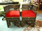 Pair Moroccan Corner Chairs