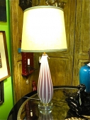 Murano Raspberry and Opaline Lamp