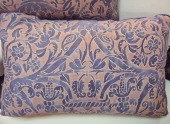 Fortuny Pillow in Mauve c. 1950s