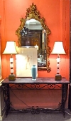 Antique French Iron and Marble Console