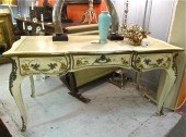 Louis XV-Style Chinoiserie Desk and Chair