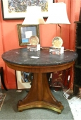 Biedermeier-Style Marble Topped Center Table