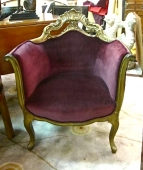 Venetian Bergere in Purple Velvet