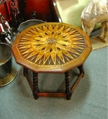 Moroccan Star Inlaid Table