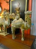Early 20th c. Carved Wood Camels, 2 Pairs