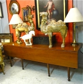 American Sheraton c. 1835-45 Harvest Table  REDUCED PRICE