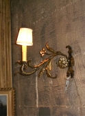 Pair French Iron Sconces