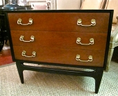 Pair Mid-Century James Mont Style Chests