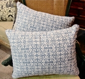 Fortuny Pillows in Blue and White