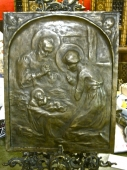 19th c. Bronze Plaque of the Nativity