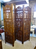 Carved Double Sided Indian Screen, 20th c.