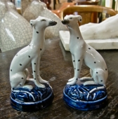 Pair Staffordshire Dalmatians, Early 20th c.