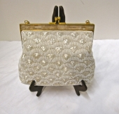 VINTAGE DECO STYLE BEADED EVENING BAG