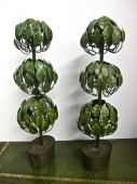 PAIR 20th C. TOLE DECORATIONS