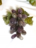 CARVED AMETHYST AND JADE GRAPE BUNCH