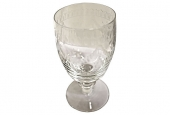 CZCECHOSLOVAKIA ETCHED CRYSTAL RED WINE STEMS