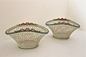 Pr. Late 19th/Early 20th c German Porcelain Baskets