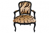 PR. LOUIS XV-STYLE CHAIRS IN DYED TIGER HIDE