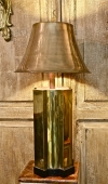 PAIR JAMES MONT STYLE BRASS PAGODA LAMPS