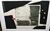 ANTONI CLAVE INTAGLIO LITHOGRAPH I, SIGNED & NUMBERED