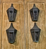 SET OF 4 VINTAGE COPPER WALL LANTERNS