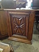 PAIR 19th c. FRENCH WALNUT CORNER CABINETS
