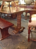 18th c. ITALIAN BAROQUE STYLE TRESTLE TABLE