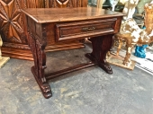 ANTIQUE ITALIAN GOTHIC CARVED WRITING DESK, 16th/17th c.