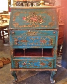 19TH C. VENETIAN PETITE SECRETAIRE IN VENETIAN BLUE