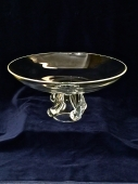 LARGE STEUBEN FOOTED BOWL c. 1950-60