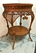 HEYWOOD-WAKEFIELD WICKER TABLE c.1900