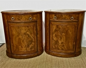 PAIR PERIOD REGENCY OVAL CABINETS