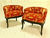 PAIR FRENCH ART DECO SMALL BERGERES