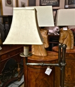 PAIR BRASS FLOOR LAMPS c. 1960-70