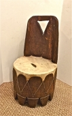 AFRICAN PRIMITIVE CHAIR/STOOL, 19th CENTURY