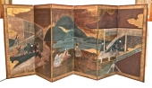 JAPANESE EDO PERIOD SCREEN FROM