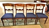 SET OF 4 ENGLISH REGENCY KLISMOS SIDE CHAIRS