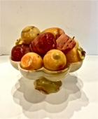 ONYX BOWL AND CARVED FRUIT c. 1960