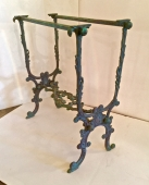 PAIR 19th c. FRENCH BRONZE CONSOLE TABLES