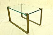 FONTANA ARTE BRASS and GLASS TABLE