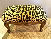 LOUIS XV CARVED WALNUT FOOTSTOOL