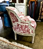 18th c. LOUIS XVI BERGERE IN 19TH c. TOILE