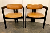 Pair Afra & Tobia Scarpa Pigreco Chairs